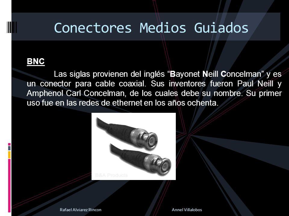 BNC Las siglas provienen del inglés Bayonet Neill Concelman y es un conector para cable coaxial. Sus inventores fueron Paul Neill y Amphenol Carl Conc