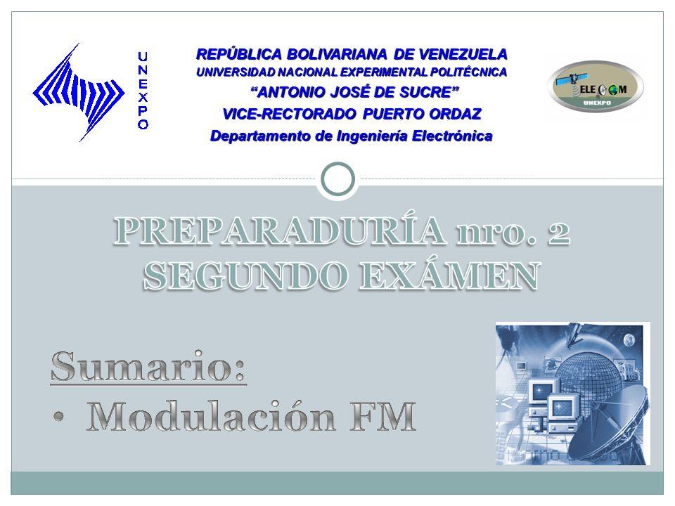 REPÚBLICA BOLIVARIANA DE VENEZUELA UNIVERSIDAD NACIONAL EXPERIMENTAL POLITÉCNICA ANTONIO JOSÉ DE SUCRE ANTONIO JOSÉ DE SUCRE VICE-RECTORADO PUERTO ORDAZ Departamento de Ingeniería Electrónica