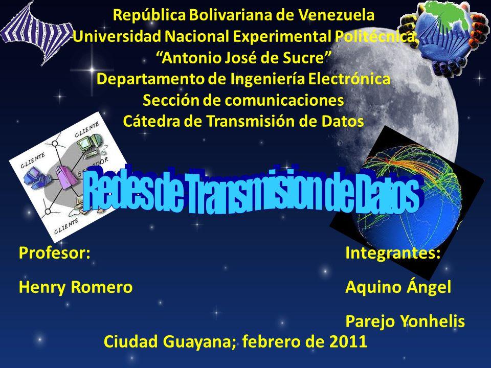 República Bolivariana de Venezuela Universidad Nacional Experimental Politécnica Antonio José de Sucre Departamento de Ingeniería Electrónica Sección