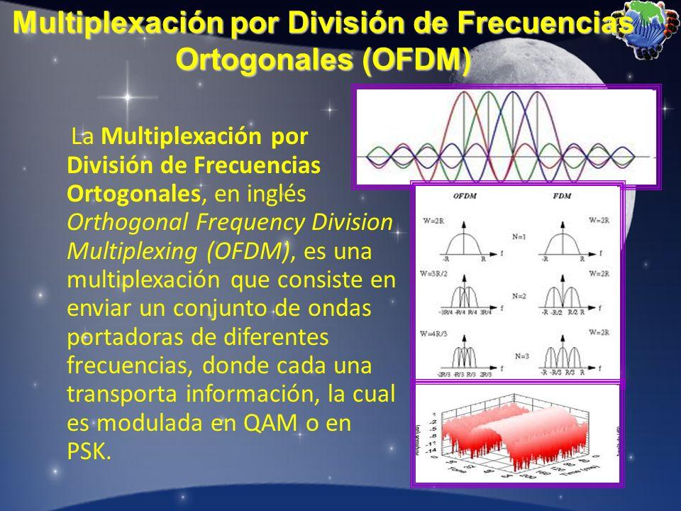 La Multiplexación por División de Frecuencias Ortogonales, en inglés Orthogonal Frequency Division Multiplexing (OFDM), es una multiplexación que cons