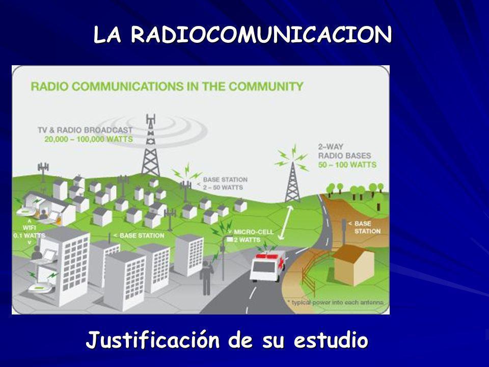 LA RADIOCOMUNICACION Justificación de su estudio