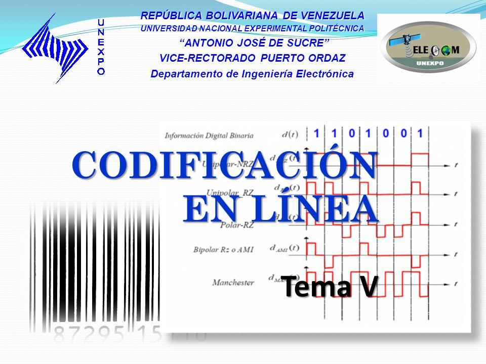 Sumario 1.Introducción 2. Propiedades de los Códigos en Línea 3.