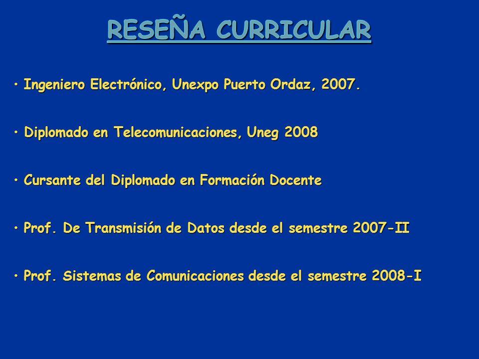 Ingeniero Electrónico, Unexpo Puerto Ordaz, 2007. Ingeniero Electrónico, Unexpo Puerto Ordaz, 2007.