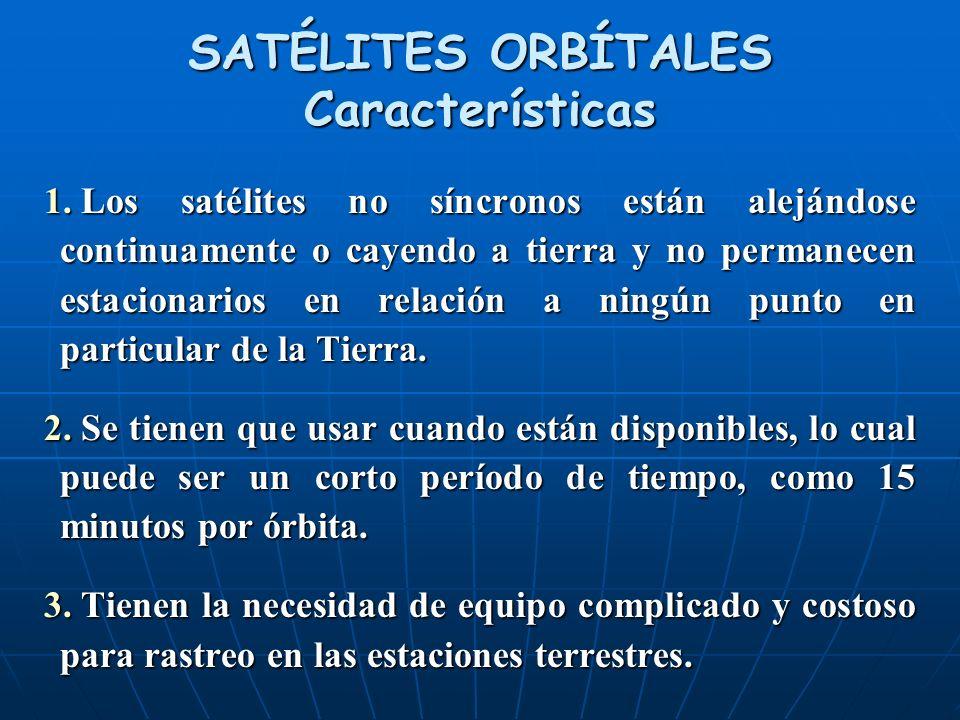 SATÉLITES ORBÍTALES Características 1.