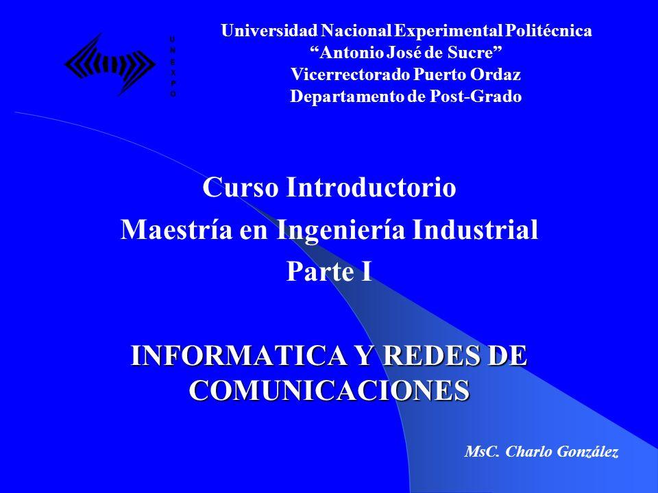 TEMA II INTRODUCCION A LA COMPUTACION Universidad Nacional Experimental Politécnica Antonio José de Sucre Vicerrectorado Puerto Ordaz Departamento de Post-Grado