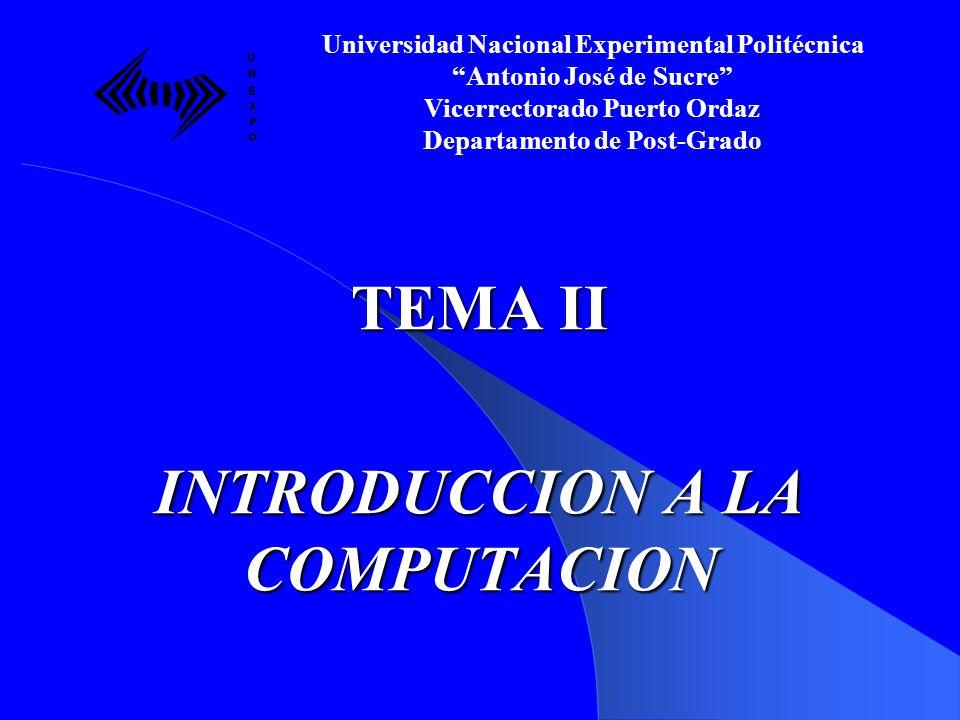 SUMARIO: Definiciones básicas.Estructura del Computador.