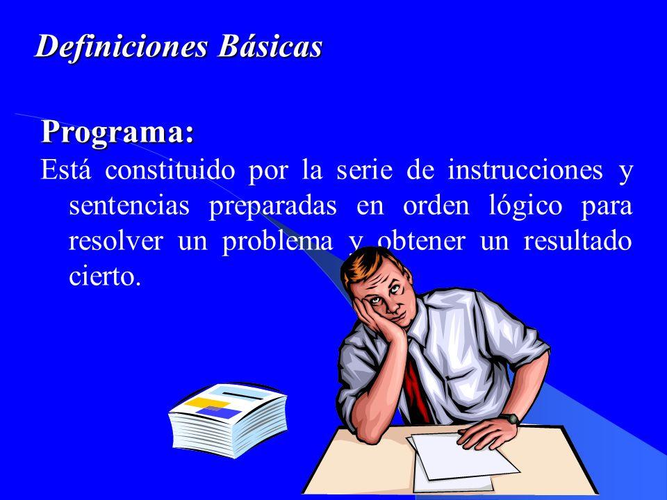 Definiciones Básicas Algoritmo: Procedimiento estructurado el cual procura la solución de un problema en un número finito de pasos.