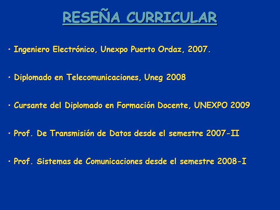 Ingeniero Electrónico, Unexpo Puerto Ordaz, 2007.Ingeniero Electrónico, Unexpo Puerto Ordaz, 2007.