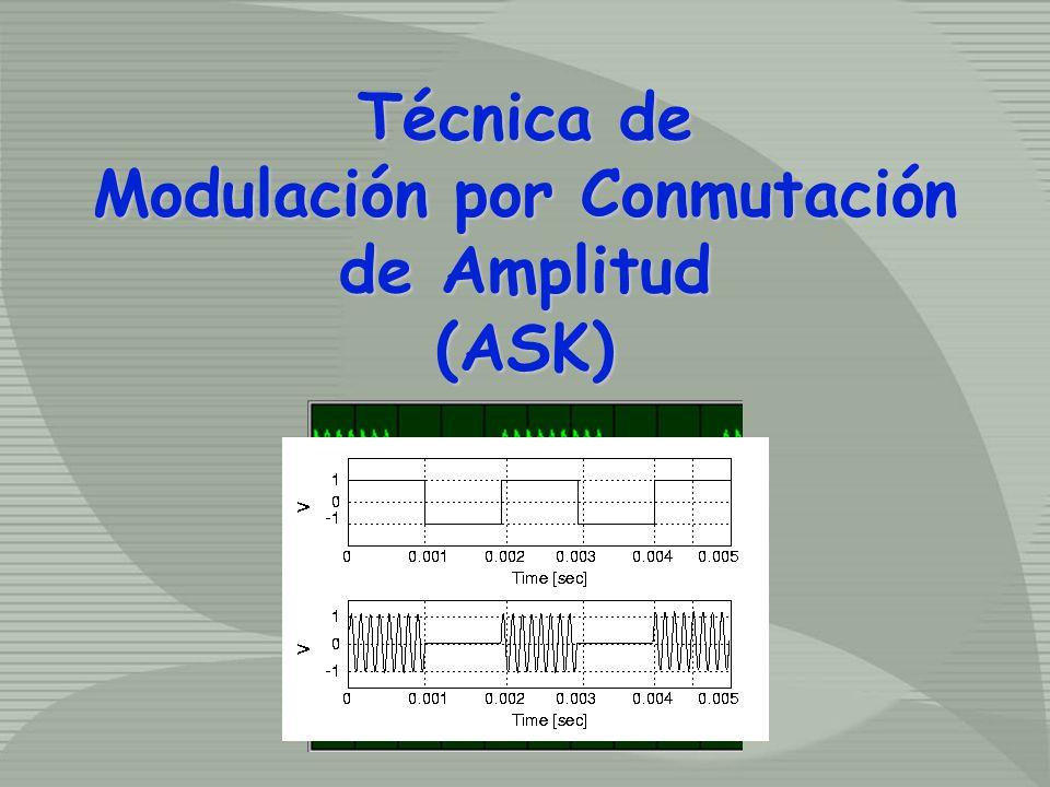 Técnica de Modulación por Conmutación de Amplitud (ASK) Técnica de Modulación por Conmutación de Amplitud (ASK)
