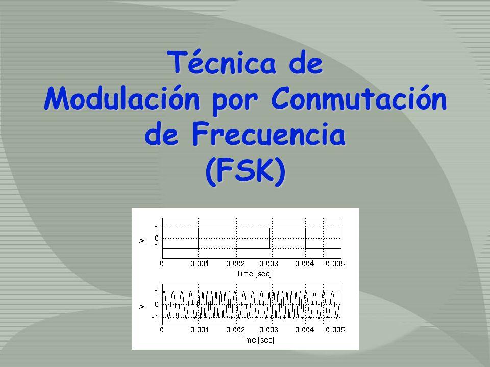 Técnica de Modulación por Conmutación de Frecuencia (FSK) Técnica de Modulación por Conmutación de Frecuencia (FSK)