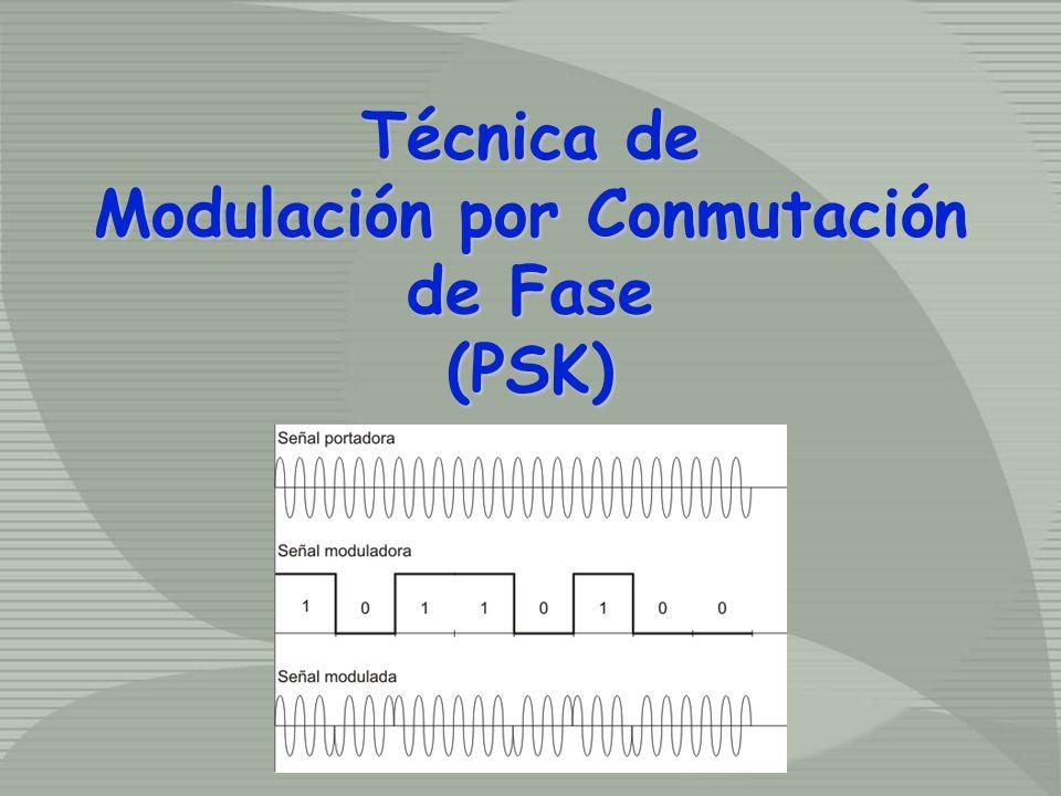 Técnica de Modulación por Conmutación de Fase (PSK) Técnica de Modulación por Conmutación de Fase (PSK)