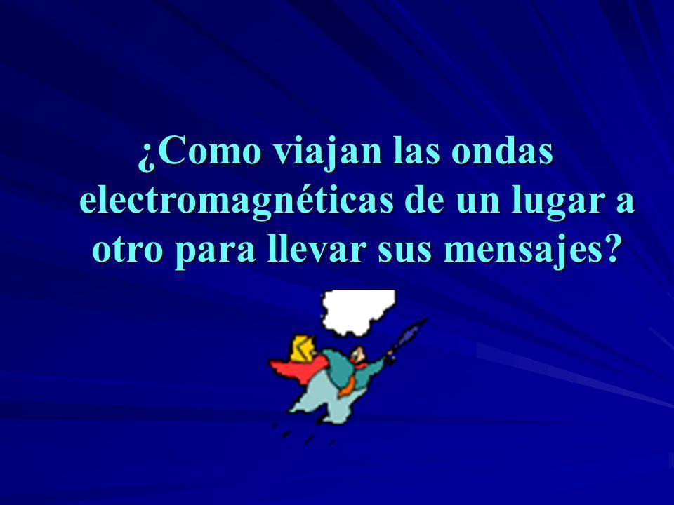 ¿Como viajan las ondas electromagnéticas de un lugar a otro para llevar sus mensajes?