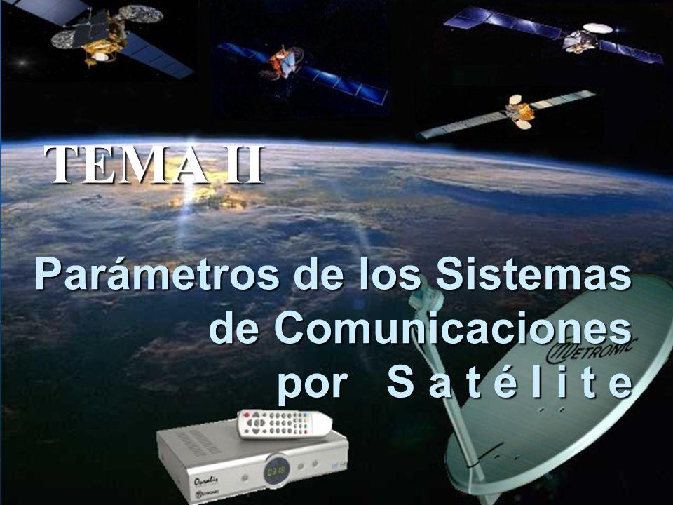 Parámetros de los Sistemas de Comunicaciones por S a t é l i t e TEMA II