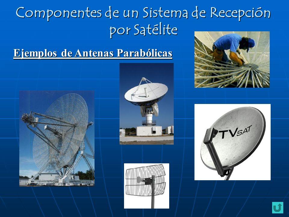 Ejemplos de Antenas Parabólicas Componentes de un Sistema de Recepción por Satélite