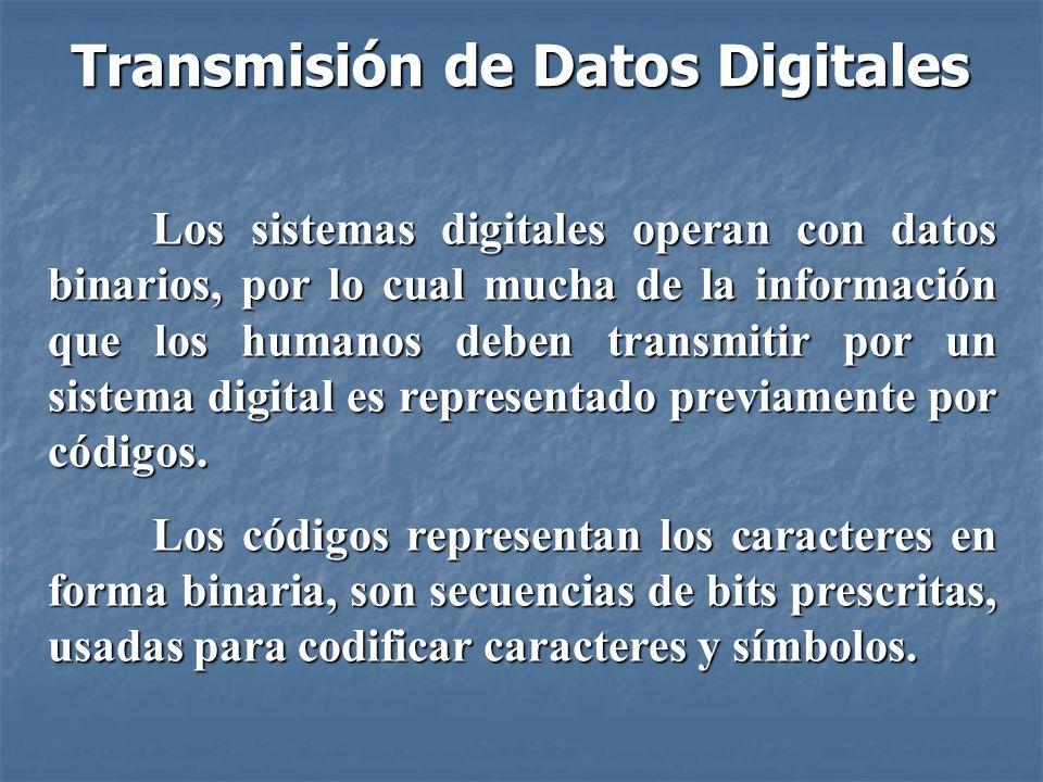 Códigos de Comunicación de Datos Poseen tres grupos: 1.