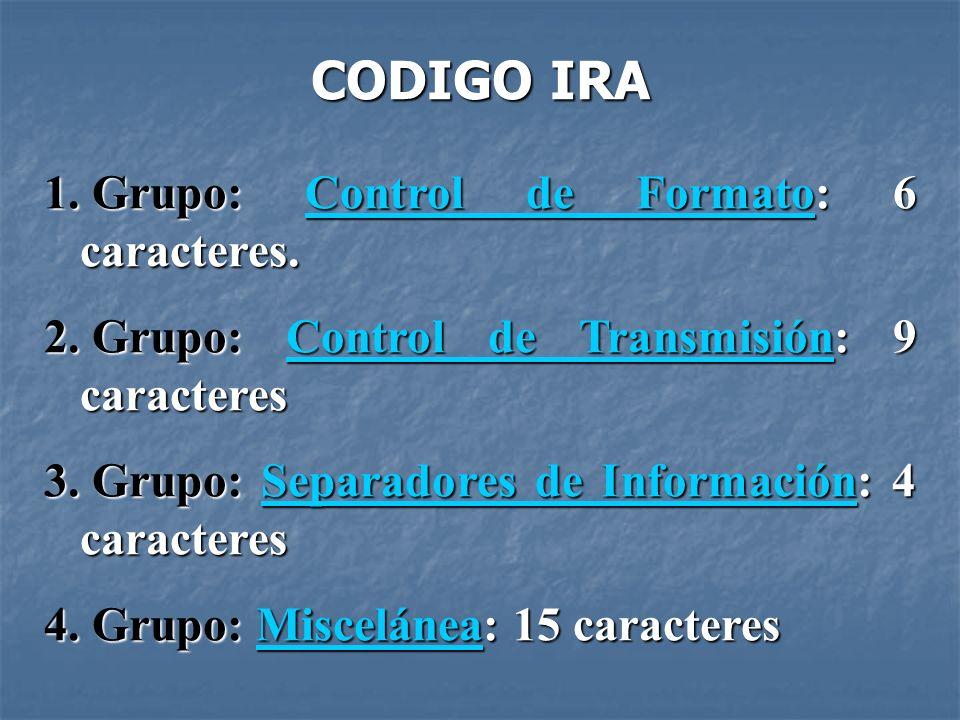 1.Grupo: Control de Formato: 6 caracteres. Control de FormatoControl de Formato 2.