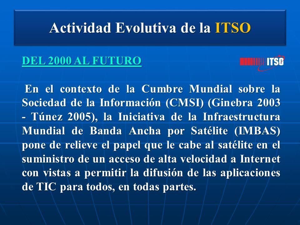 Actividad Evolutiva de la ITSO DEL 2000 AL FUTURO En el contexto de la Cumbre Mundial sobre la Sociedad de la Información (CMSI) (Ginebra 2003 - Túnez