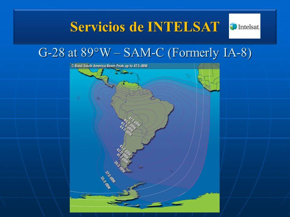 G-28 at 89°W – SAM-C (Formerly IA-8) Servicios de INTELSAT