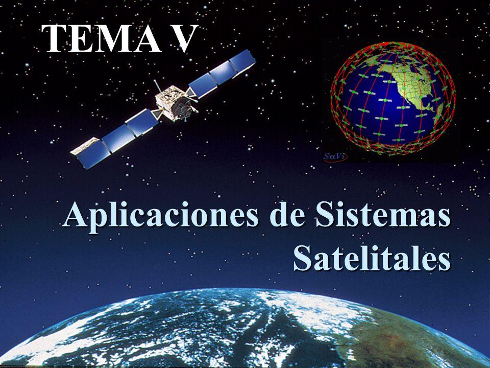 Aplicaciones de Sistemas Satelitales TEMA V