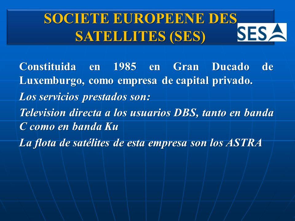 Constituida en 1985 en Gran Ducado de Luxemburgo, como empresa de capital privado. Los servicios prestados son: Television directa a los usuarios DBS,