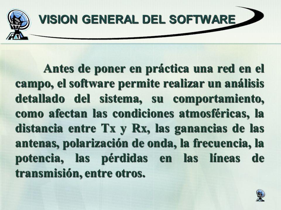 Antes de poner en práctica una red en el campo, el software permite realizar un análisis detallado del sistema, su comportamiento, como afectan las co