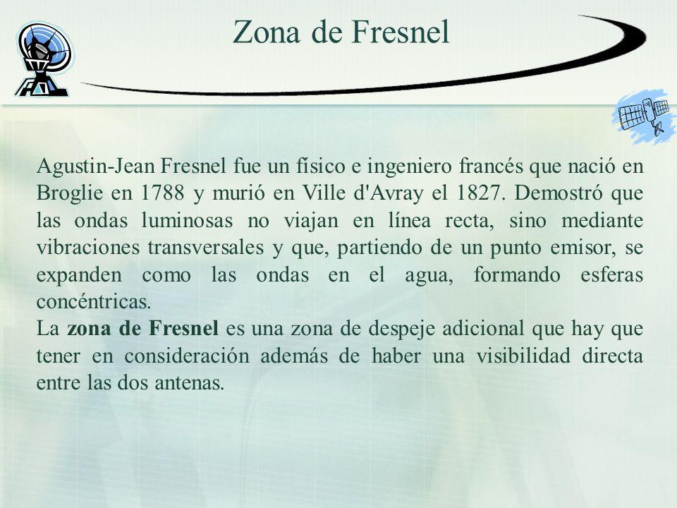Zona de Fresnel Agustin-Jean Fresnel fue un físico e ingeniero francés que nació en Broglie en 1788 y murió en Ville d'Avray el 1827. Demostró que las