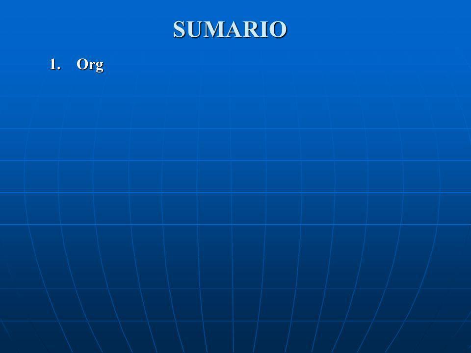 SUMARIO 1. Org