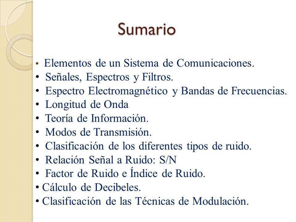 Elementos de un Sistema de Comunicaciones Elementos de un Sistema de Comunicaciones Un sistema de comunicación, en forma general, está constituido por los siguientes elementos básicos: