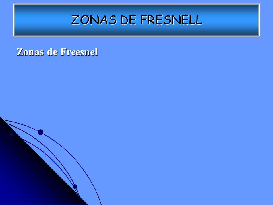 ZONAS DE FRESNELL Zonas de Freesnel