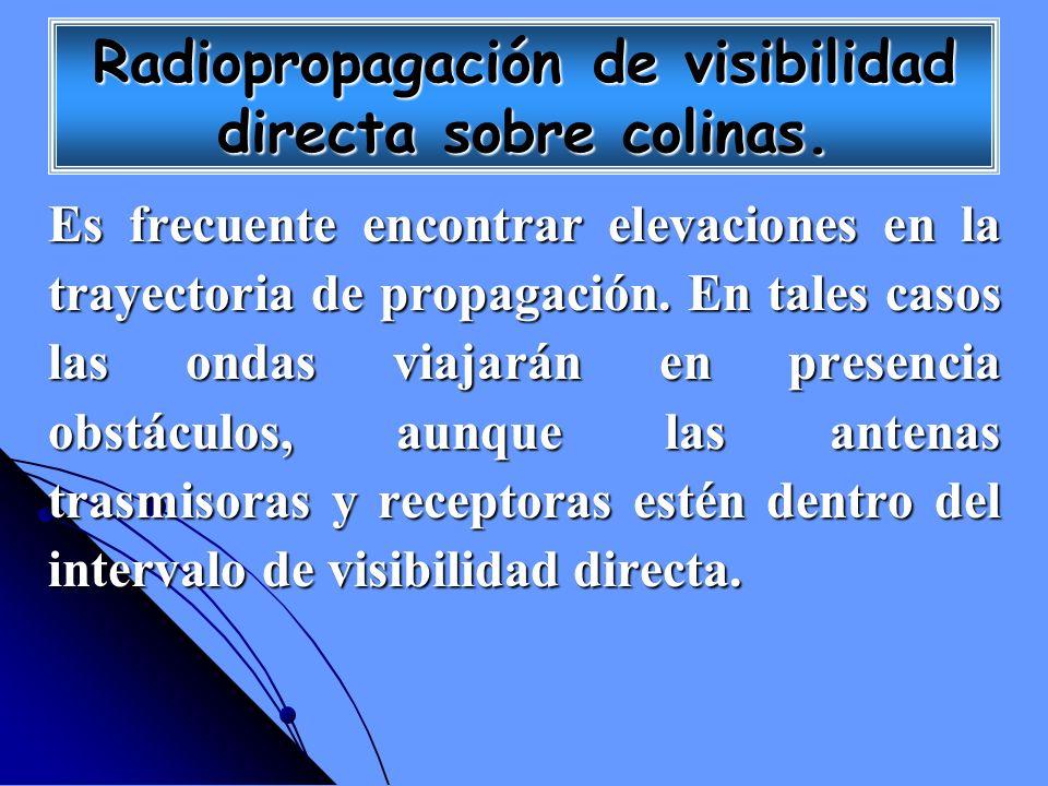 Radiopropagación de visibilidad directa sobre colinas. Es frecuente encontrar elevaciones en la trayectoria de propagación. En tales casos las ondas v