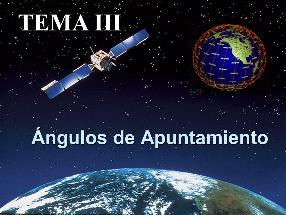 CALCULO DE AZIMUT Y ANGULO DE ELEVACIÓN El ángulo de elevación y el azimut, dependen ambos, de la latitud y la longitud de la estación terrena como del satélite en órbita.