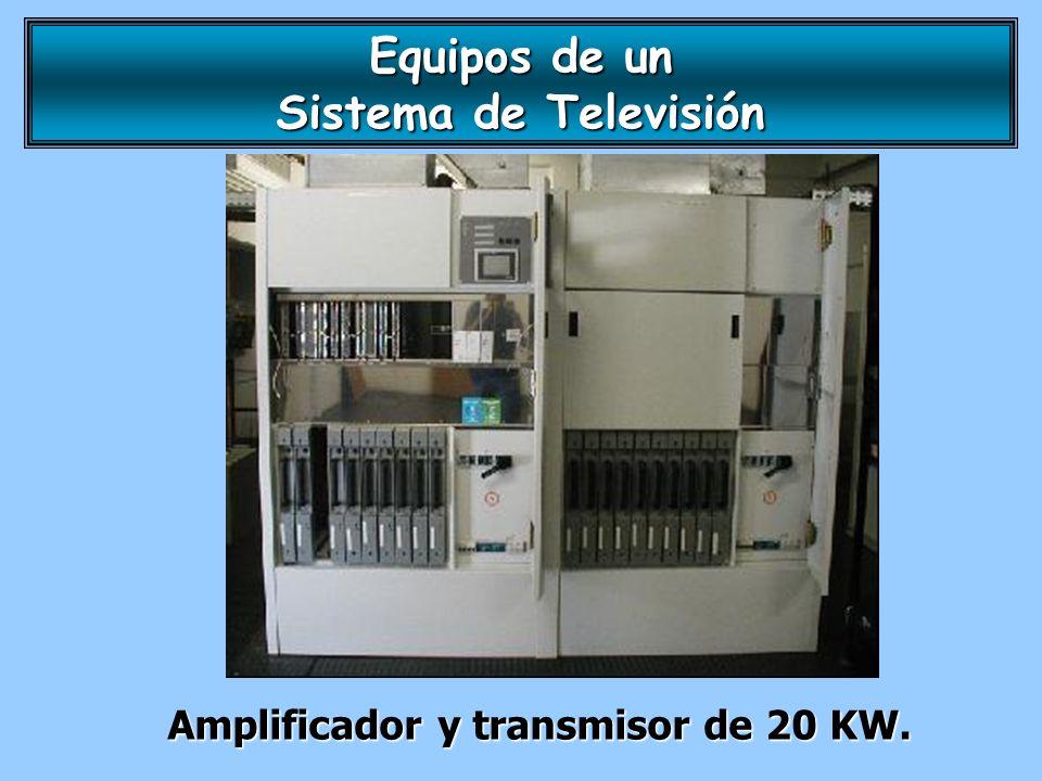 Amplificador y transmisor de 20 KW. Equipos de un Sistema de Televisión