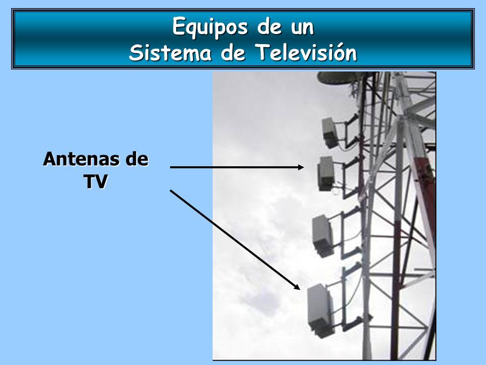 Antenas de TV Equipos de un Sistema de Televisión