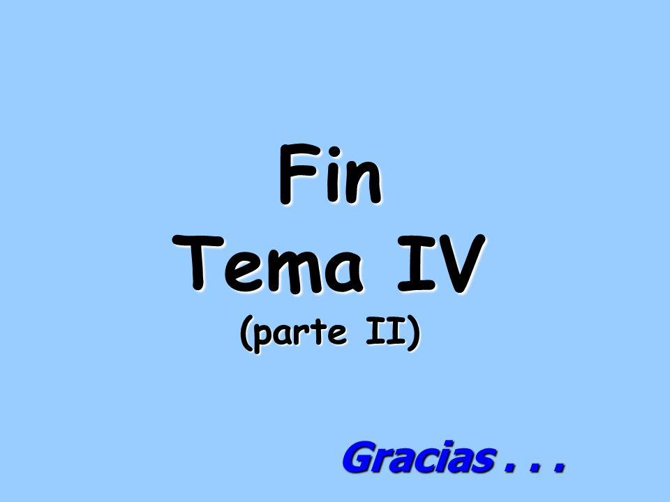 Fin Tema IV (parte II) Gracias...