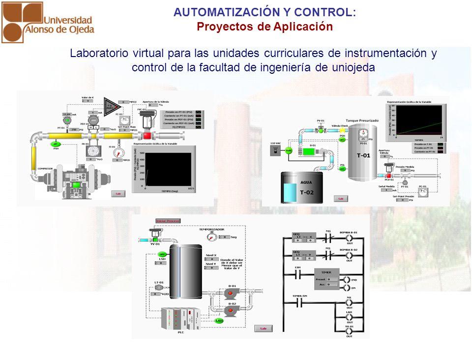 Laboratorio virtual para las unidades curriculares de instrumentación y control de la facultad de ingeniería de uniojeda AUTOMATIZACIÓN Y CONTROL: Pro