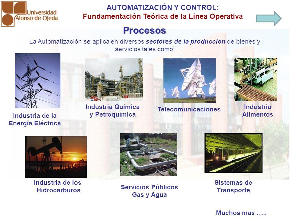 La Automatización se aplica en diversos sectores de la producción de bienes y servicios tales como: Industria de la Energía Eléctrica Industria de los