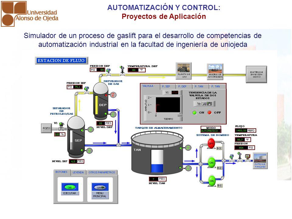 Simulador de un proceso de gaslift para el desarrollo de competencias de automatización industrial en la facultad de ingeniería de uniojeda AUTOMATIZA