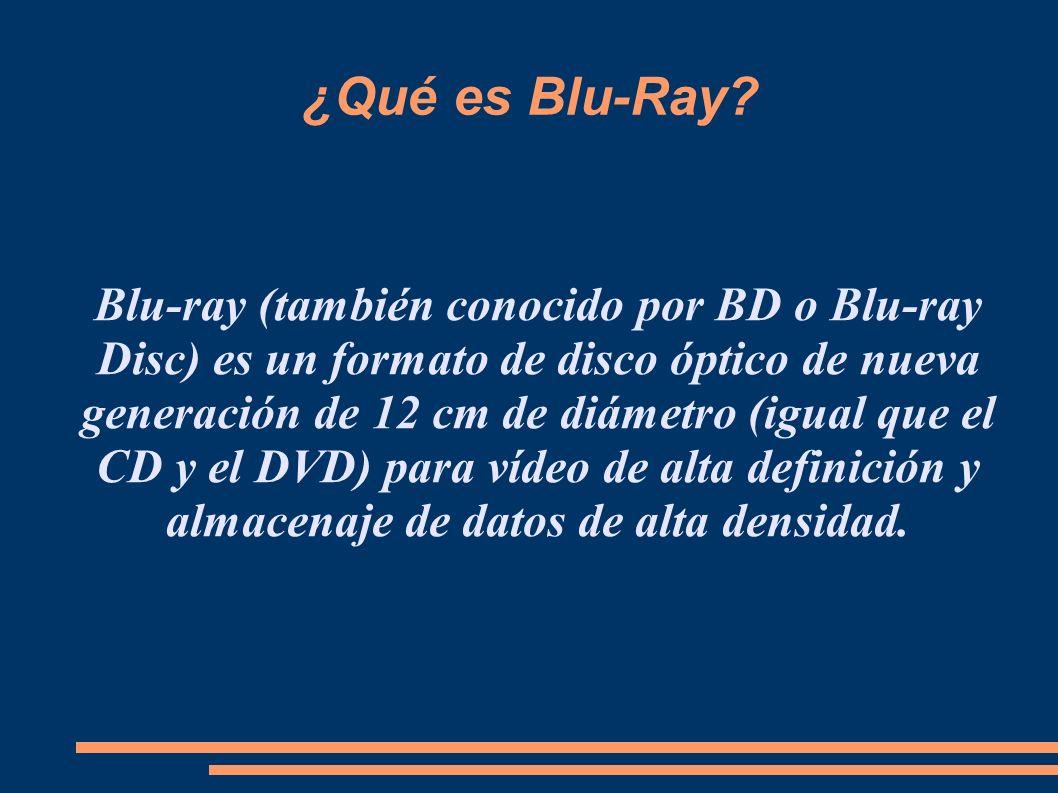 ¿Qué es Blu-Ray.