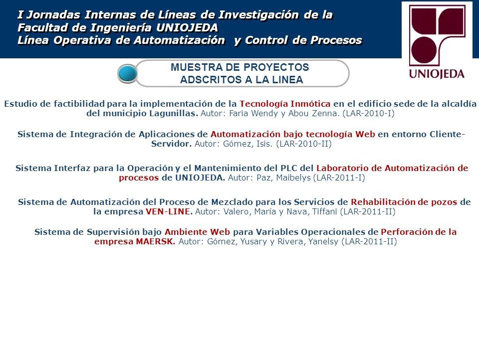 Sistema de Automatización del Proceso de Mezclado para los Servicios de Rehabilitación de pozos de la empresa VEN-LINE. Autor: Valero, María y Nava, T
