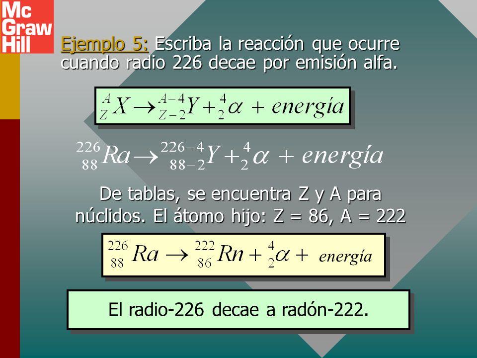 Decaimiento radioactivo Como se discutió, cuando la razón de N/Z se hace muy grande, el núcleo se vuelve inestable y con frecuencia se emiten partícul