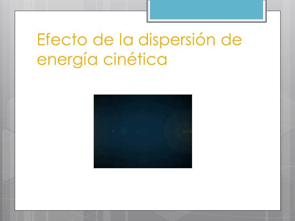 Efecto de la dispersión de energía cinética