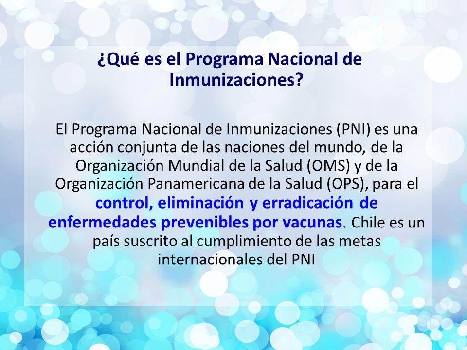 ¿Qué es el Programa Nacional de Inmunizaciones.