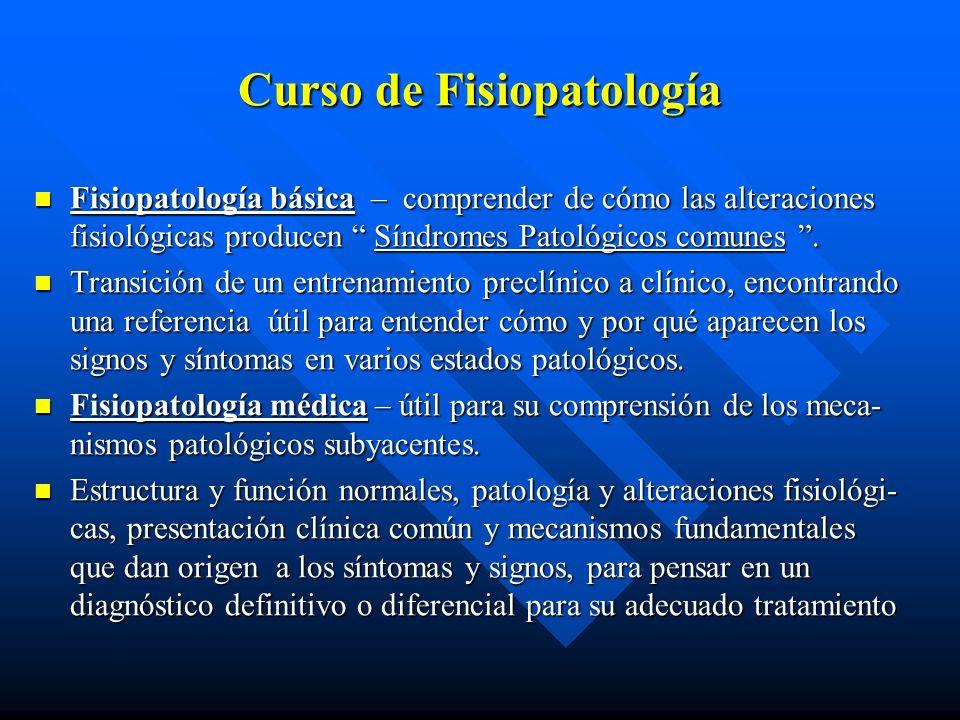 ¿ Qué es Fisiopatología .