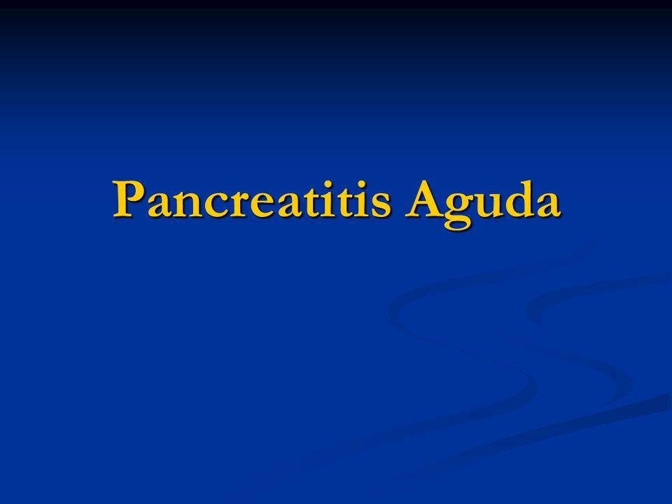 Definición Es un proceso inflamatorio agudo del Páncreas Necrosis pancreática en las formas más graves Compromiso de tejidos adyacentes (grasa) y órganos vecinos Con formación de colecciones líquidas En las formas más severas tiene compromiso multisistémico.