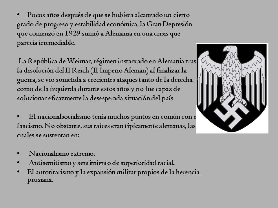 Nazismo Este régimen se crea a partir de la fundación del Partido Obrero Alemán (NSDAP) en 1919, convertido en Partido Obrero Nacionalsocialista en 19