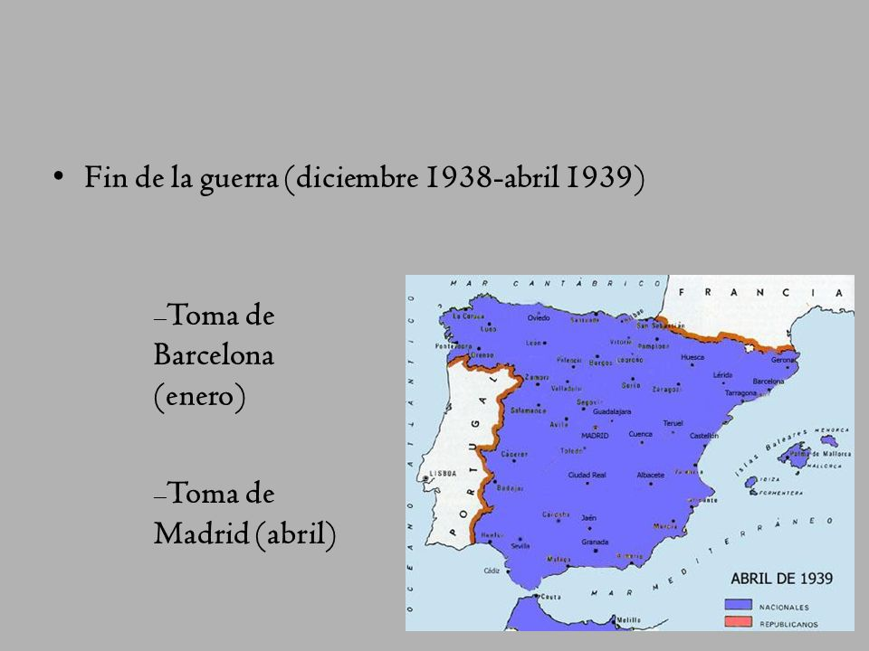 Hacia el mediterráneo (diciembre 1937-noviembre 1938) División del territorio republicano en dos partes: