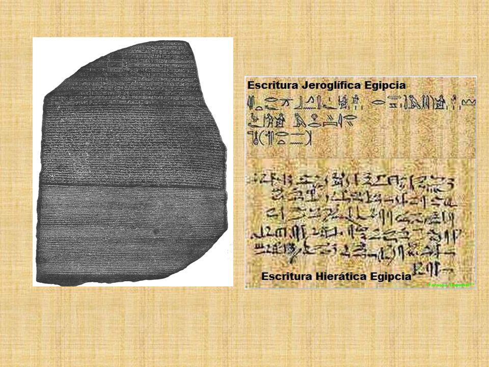 Desarrollo Cultural La escritura. –Jeroglífica –Hierática –Demótica