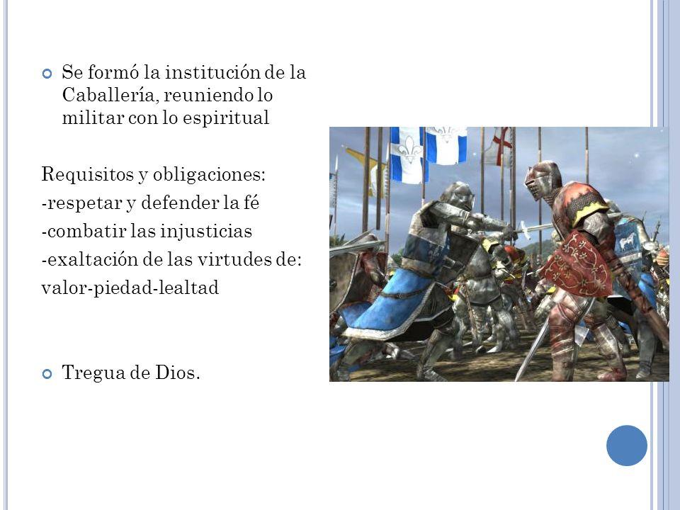 Nobleza los que luchan Su funci ó n social era la defensa de la cristiandad, por lo que lo militar era su principal caracter í stica Estaba compuesta