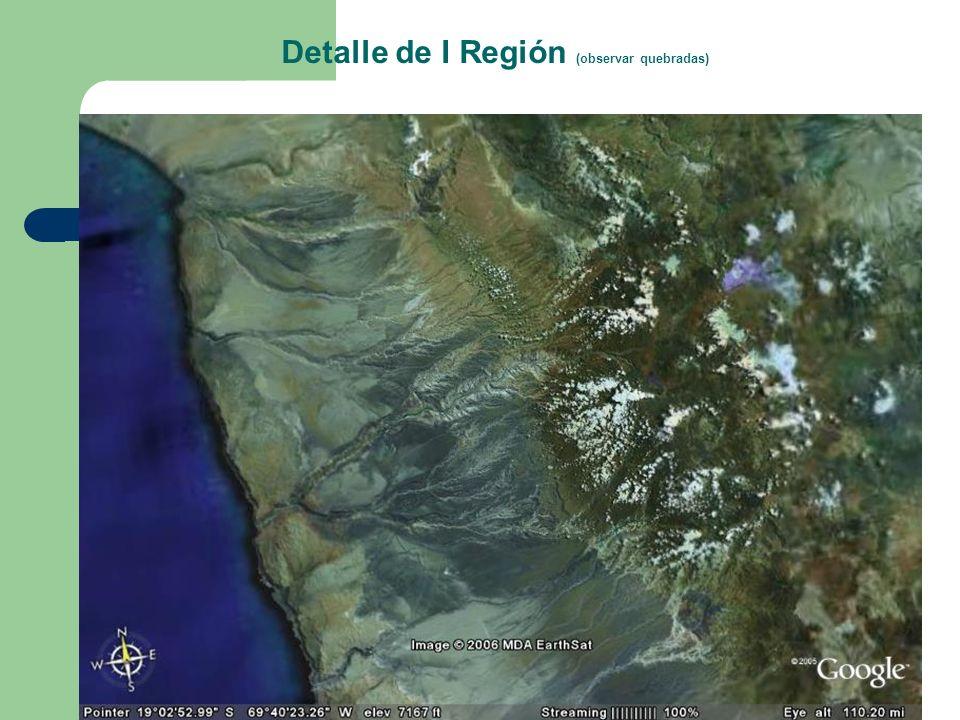 Detalle de I Región (observar quebradas)