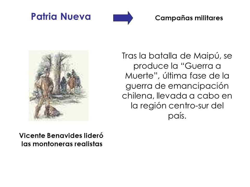 Tras la batalla de Maipú, se produce la Guerra a Muerte, última fase de la guerra de emancipación chilena, llevada a cabo en la región centro-sur del